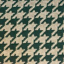 "Hunter Green hounds tooth Chenille Upholstery Drapery fabric by yard 54"" Wide"