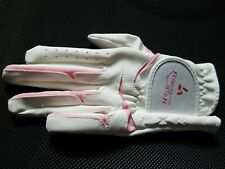 Youth Left Golf Glove Pink And White Size Small in mint condition