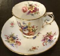 Hammersley China MINUET/HOWARD'S SPRAY 2991 Demitasse Cup & Saucer Set(s)~Floral