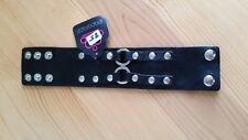 Paparazzi Bracelet (new) BLACK W/ SILVER BUTTONS 85