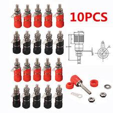 10PCS Red + Black 4mm Banana Socket Binding Post Nut Banana Plug Jack Connector