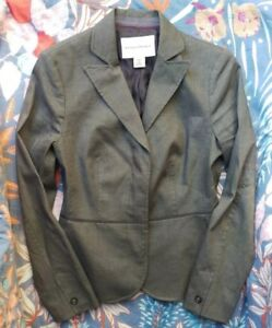 Banana Republic Stretch Petite Brown Blazer 2P