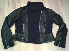 Blanc Noir womans full zip faux leather motorcycle jacket size XL