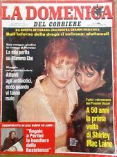 La Domenica del Corriere 28 Aprile 1984 Shirley Mac Laine Mamma Ebe Celentano
