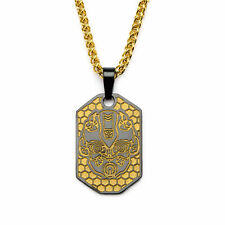 HASBRO Transformers Stainless Steel Gold Bumblebee Autobot Pendant Necklace 24""