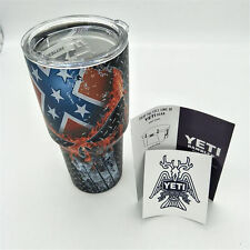 New Yeti Rambler 30 oz Stainless Steel Tumbler Insulated Cup Flame Skull