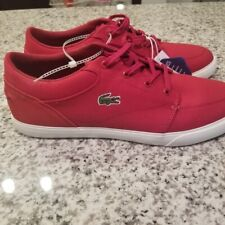 New Authentic Lacoste Bayliss 219 1 CMA Men's Sneaker Shoe Red Off-white 11
