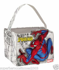The Amazing Spider-Man Candy Cube Halloween Candy Pail Marvel Comics NWT 19103