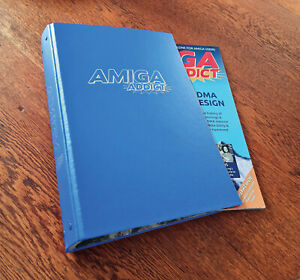 empty Amiga Addict magazine binder (for A4-sized magazines) - No mags included!