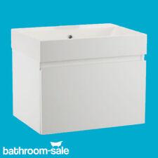 Mino 600 Gloss White Bathroom Wall Hung Basin Unit Complete | RRP: £399