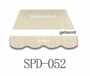 Markisenstoff  Markisenbespannung Ersatzstoff PLUS Volant  3x2,5 m NEU SPD52