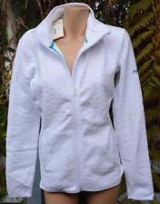 Roxy - Hearty Saturn Polar Fleece Zip Front Hoodie Jacket Size M-14 White