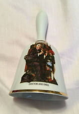 "The First Norman Rockwell Bell, ""Doctor And Doll"" Danbury Mint, Vguc"