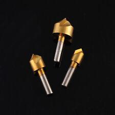 3X 2mm-13mm Titanium Countersink Carbon Steel 90° Flute Chamfer Metric Drill Bit