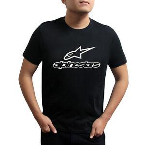 Genuine Official Alpinestars Extreme Cycling Streetwear Black Men Tee T-Shirt