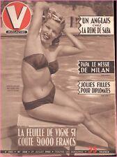 ▬►V MAGAZINE 356 de 1951 PIN UP ODETTE LEFLOCH_ADRIAN CONAN DOYLE_LE BIKINI
