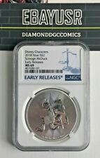 2018 Niue 1oz Silver Scrooge McDuck NGC MS69 Early Releases Disney