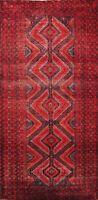 Antique Geometric Sirjan Area Rug Hand-knotted Home Decor Oriental Carpet 4x6 ft