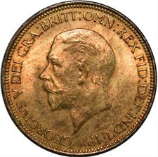 More details for 1933 half penny uk george v / uncirculated with full lustre