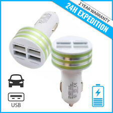 Best 4x Port Triple USB A+ Auto lader Car Charger Oplader Chargeur Voiture Green