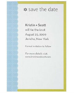SAVE THE DATE 10 CARDS The Knot Wedding Computer Printable Chic Stylish Wilton