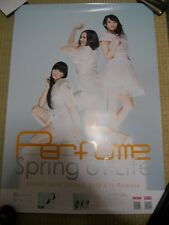 Perfume [Spring of Life] promo POSTER Japan Limited! KAWAII !!