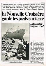 PUBLICITE ADVERTISING  1981   CROISIERES  PAQUET  sur le MERMOZ  ( 3 pages)