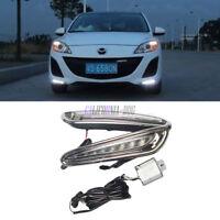 DRL LED Daytime Running Lights Lamp Set For Mazda 3 2010 2011 2012