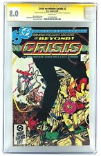 CRISIS ON INFINITE EARTHS #2 CGC 8.0 SS 2X SIGNED GEORGE PEREZ & DICK GIORDANO