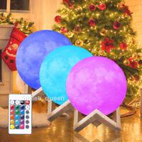 3D USB LED Large Moon Night Light Moonlight Table Desk Moon Lamp Home Decor US