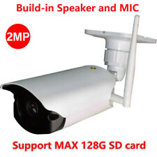 Wireless WiFi Outdoor 1080P 2MP IR IP Camera SD Card Slot Speaker MIC CamHi APP