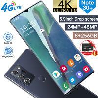 "6.9"" Android 10.0 Fingerprint Unlocked Dual SIM 8+256GB&128GB TF Card SmartPhone"
