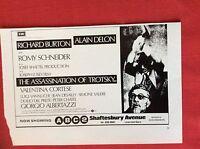 m78a ephemera 1972 film Advert the assassination of trotsky richard burton