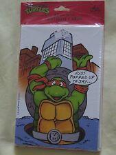 Teenage Mutant Ninja Turtles Birthday Cards 1989 Vintage 12 Package Sealed