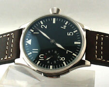 Parnis 44mm Mechanical Hand Winding 6498 Silver stainless case men's Watch E200