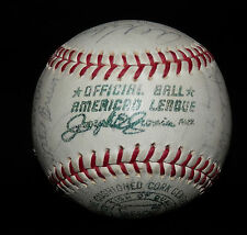 1965 Detroit Tigers Team Signed Official A.L. CRONIN BALL Kaline Cash Oyler etc