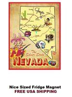 Nevada The Sagebrush State Fridge Magnet