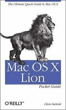 Mac OS X Lion Pocket Guide by Chris Seibold (2011, Paperback)