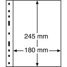 10 feuilles OPTIMA 1 compartiment transparent pour  billet géant ref 319037