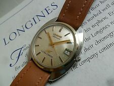 14k Gold & S/S Vintage Men's 1970's Longines Ultra-Chron Swiss Automatic Watch