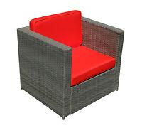 Grey Wicker Patio Sectional Outdoor Sofa Chair Furniture Conversation Set DIY-RD