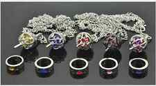 Puella Magi Madoka Magica Soul Gem 5 Necklace + 5 Rings+ 1 box  Cosplay  @1