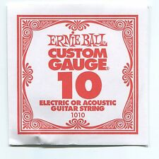 Ernie Ball Custom Gauge (10) Nickel Plain Single Guitar String - Regular Slinky