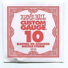 Ernie Ball Custom Gauge (10) Nickel Plain Single Guitar String - Regular Slinky