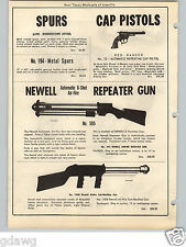1951 PAPER AD Toy Newell Automatic 6 Shot Tennis Ball Air Fire Gun Sub Machine
