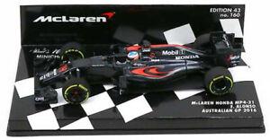 Minichamps McLaren MP4-31 #14 Australian GP 2016 - Fernando Alonso 1/43 Scale