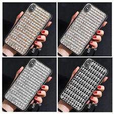 For iPhone 11/XS Max XR SE2 Crystal Sparkle Bling Diamond Rhinestone Case Cover