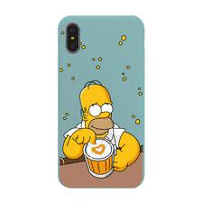 Los Simpsons Pantuflas de Homero suave TPU con Cubierta Caso iPhone 6S 7 8+ XS XR 11 Pro MAX X