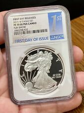 2015-W $1 Proof American Silver Eagle NGC PF70 First Day Releases FDOI Fun Show