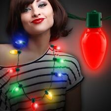 LED Light Up Christmas Bulb Necklace Party Favors for Adults or Kids Holiday us